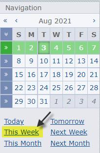 Forex news Calendar Settings, Weekly View