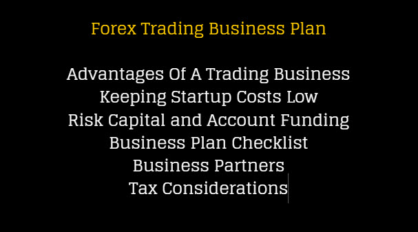 Forex Trading Business Plan