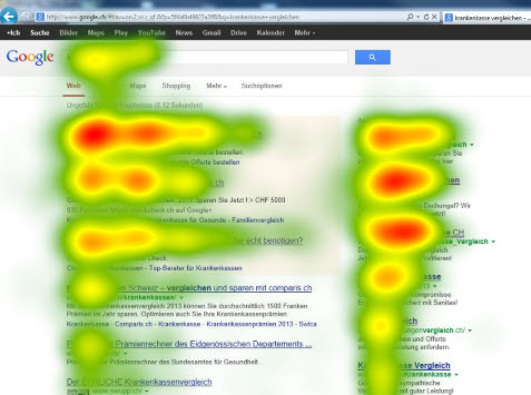 Website Clicks Heatmap